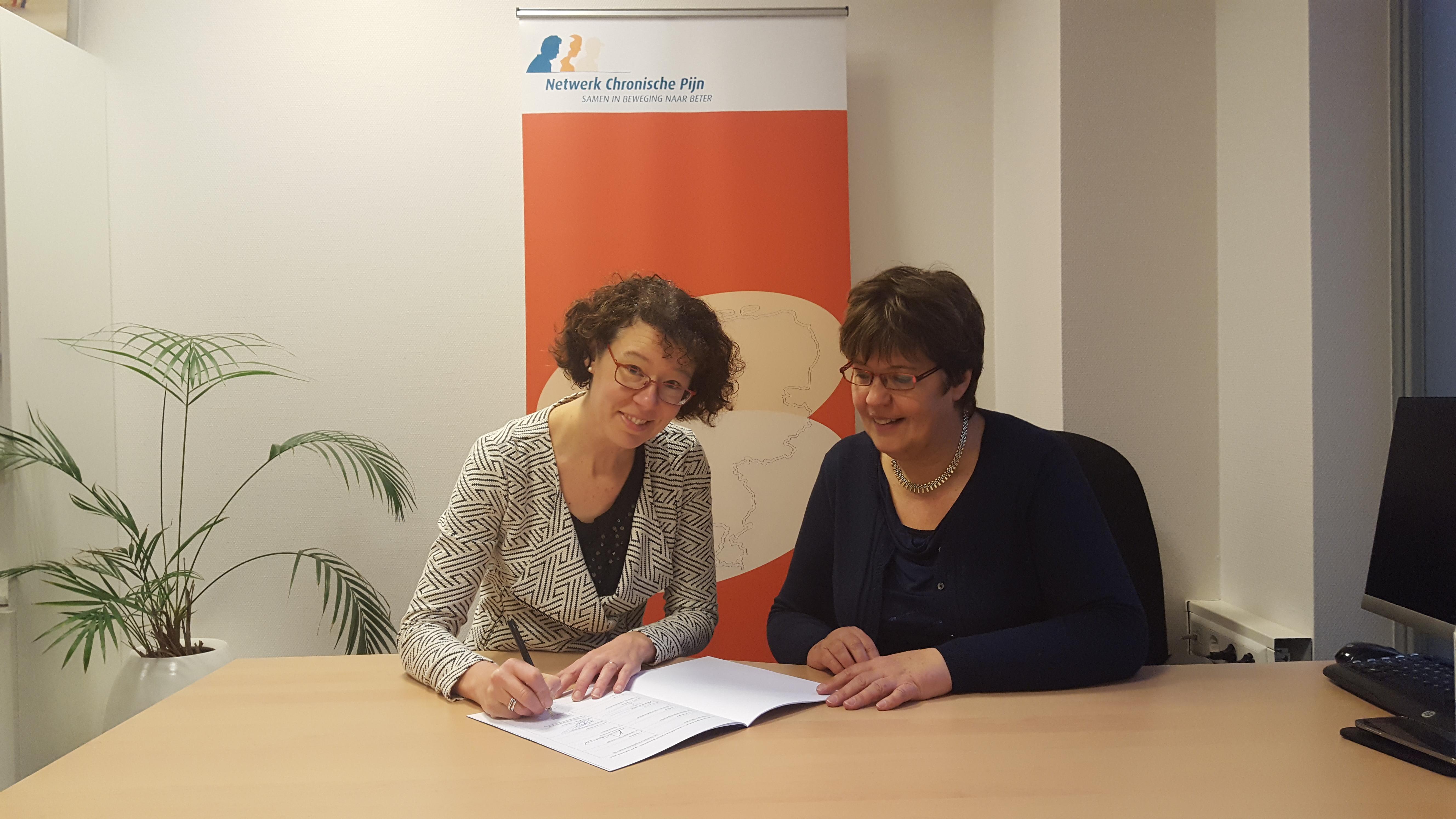 Ondertekening Health Deal door Netwerk Chronische Pijn